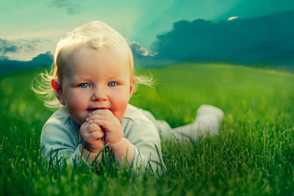 Bébé herbe